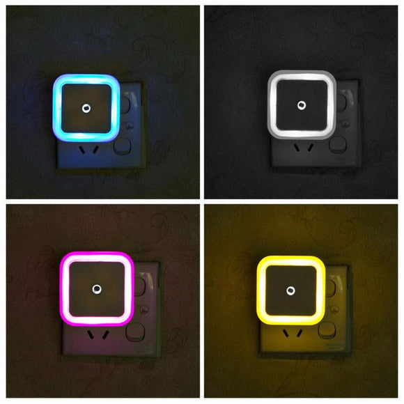LED Night Light - Set of 4 Multicolor Great for Children's Bedroom, Nursery, Travel with Children