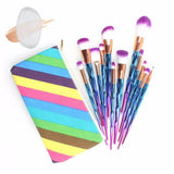 Diamond Shaped Makeup Foundation Brush Set -12 Piece with FREE Cosmetic Bag