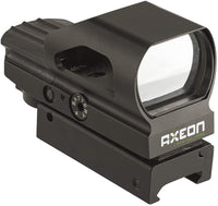 AXEON Optics Multi-Reticle Reflex Gun Sight, RG49 Hooded Reflex Sight, Black