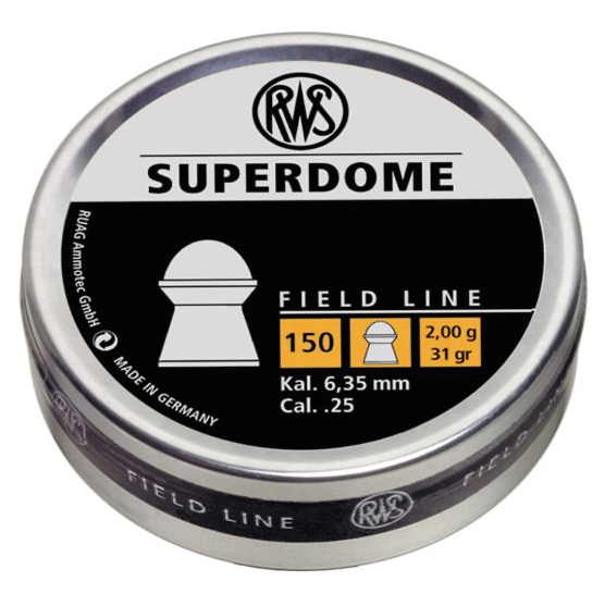 RWS SUPERDOME .25 - 150CT (BLISTER) PELLETS