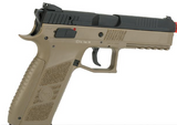 ASG CZ P-09 Duty Licensed Airsoft GBB Gas Blowback Full Metal Pistol Black and Tan