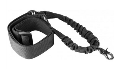 BLACK ONE POINT BUNGEE RIFLE SLING