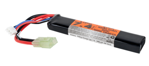 Valken Energy LiPo 7.4v 1000mAh 20C Stick Battery