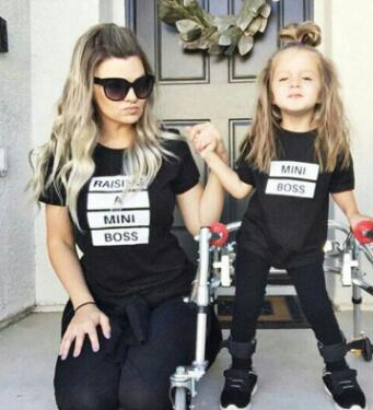 """Raising A Mini Boss"" Matching Mommy & Me Tee"