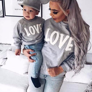 """LOVE"" Matching Mommy & Me Sweatshirt"