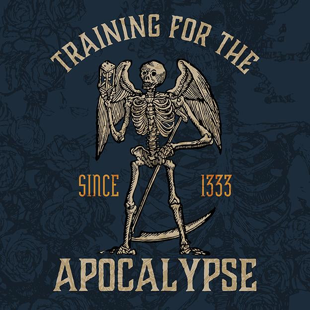 "Men's ""Training for the Apocalypse since 1333"" rashguard - Hematees"