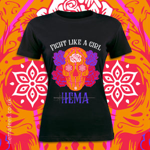 Women's Fight like a Girl Day of the Dead - Hematees