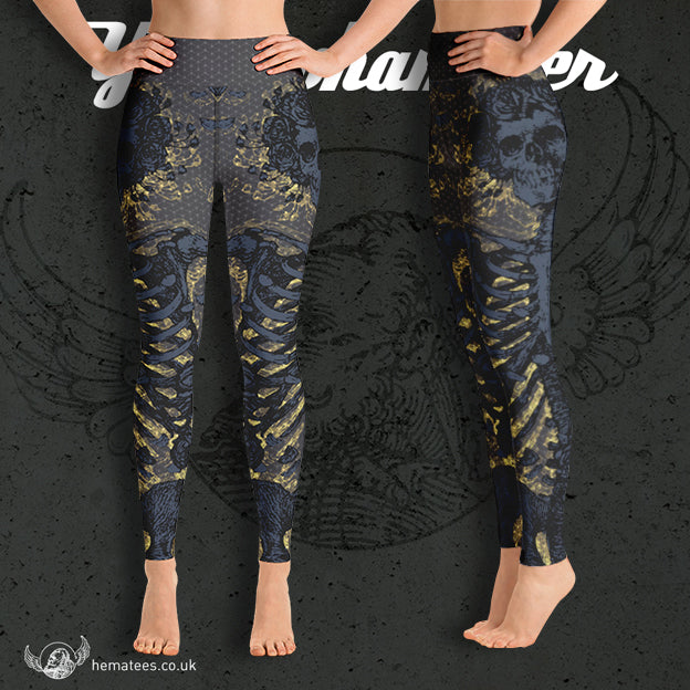Women's Yellowhammer Memento Mori leggings - Hematees