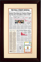 2008 Market Plunge | The Wall Street Journal mahogany Framed Reprint