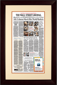 AIG Lehman Shock | The Wall Street Journal mahogany Framed Reprint