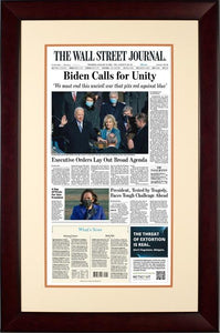 Biden Inauguration | The Wall Street Journal, Framed Reprint, Jan. 21, 2021