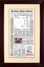 Bull Market Ends | The Wall Street Journal, Framed Reprint, March 12, 2020