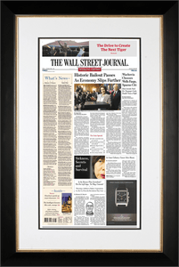 Bush Bailout | The Wall Street Journal Framed Reprint, October 4, 2008