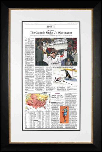 Capitals Win Cup | Wall Street Journal Framed Reprint, June 9, 2018