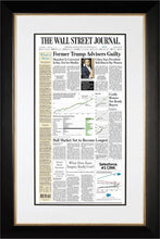Cohen, Manafort Guilty | The Wall Street Journal, black Framed Reprint, Aug. 22, 2018