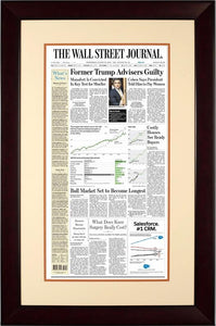 Cohen, Manafort Guilty | The Wall Street Journal, mahogany Framed Reprint, Aug. 22, 2018