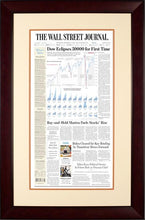 Dow 30000 | The Wall Street Journal, Framed Reprint, November 25, 2020, Mahogany