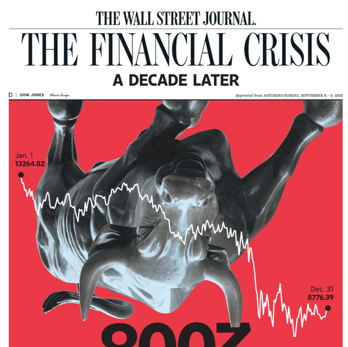 The Financial Crisis: A Decade Later cover Special Report, September 2018