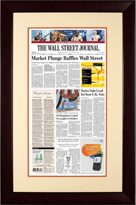 Flash Crash | The Wall Street Journal Framed Reprint, May 7, 2010