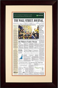 France World Cup 2018 | The Wall Street Journal, mahogany Framed Reprint, July 16, 2018