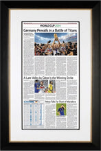 Germany World Cup 2014 | The Wall Street Journal, black Framed Reprint