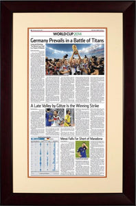 Germany World Cup 2014 | The Wall Street Journal, mahogany Framed Reprint