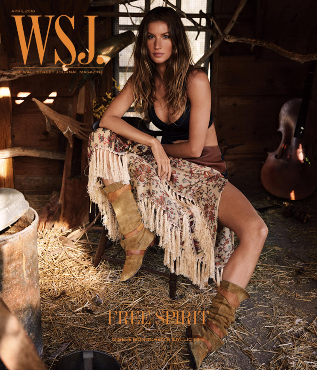 Gisele Bündchen | WSJ. Magazine cover April 2018
