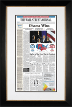 Obama Wins  | The Wall Street Journal black Framed Reprint