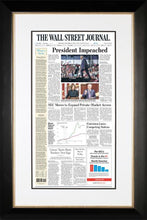 President Impeached | The Wall Street Journal, Black Framed Reprint, Dec. 19, 2019