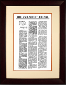 Racing Russia | The Wall Street Journal, Framed Article Reprint, May 8, 1961