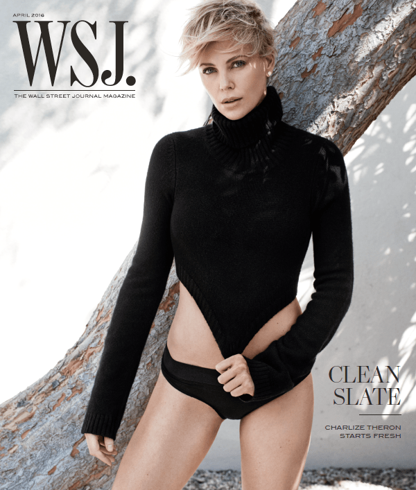 Charlize Theron WSJ. Magazine cover