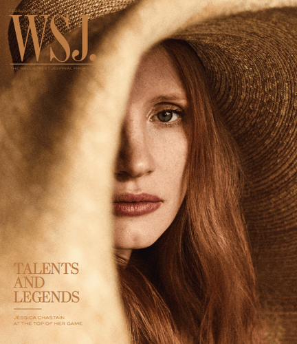 Jessica Chastain February 2018 WSJ. Magazine cover