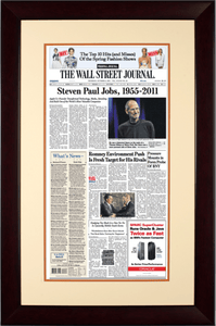 Steven Paul Jobs, 1955-2011 | The Wall Street Journal mahogany Framed Reprint