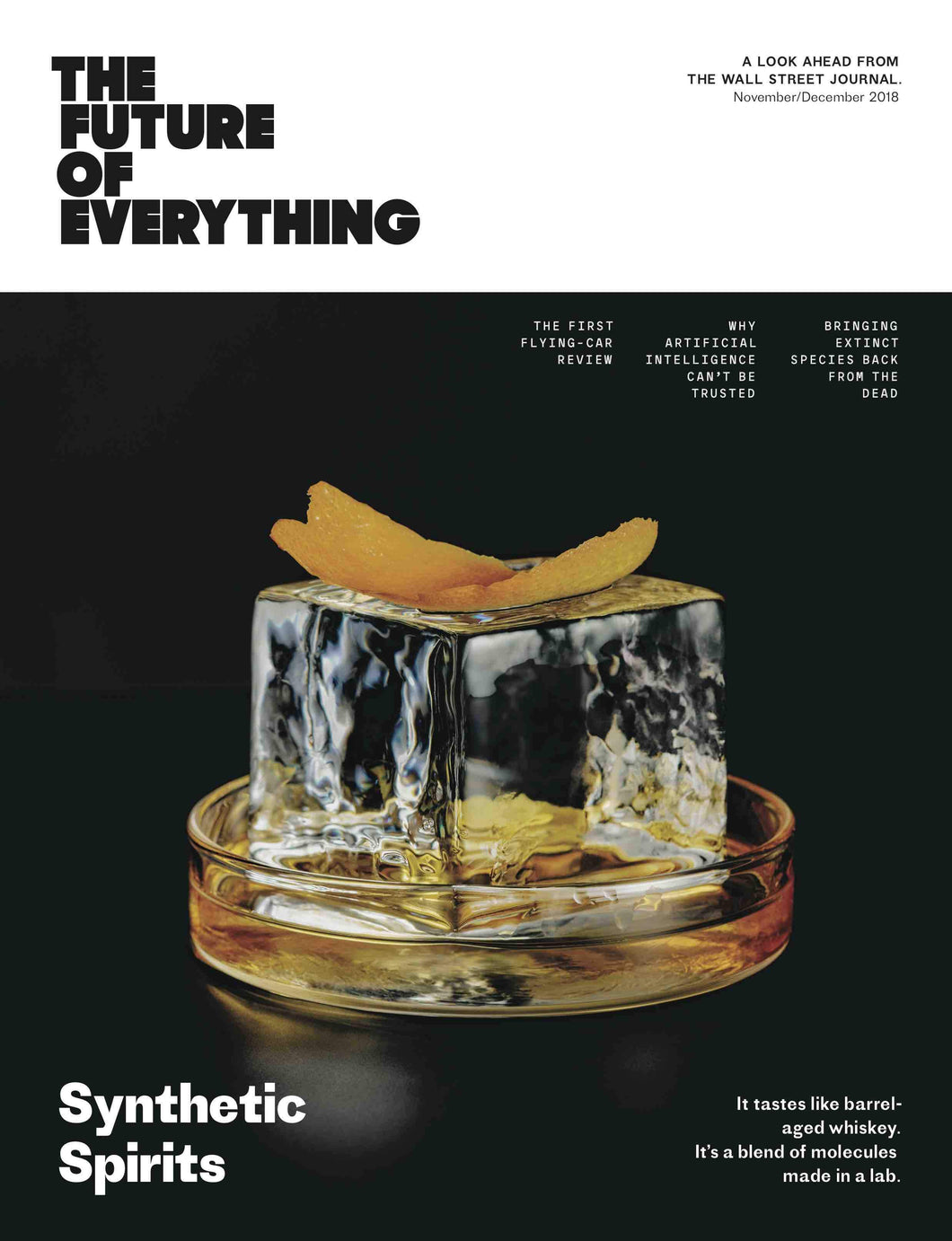 Synthetic Spirits | The Future of Everything cover November/December 2018