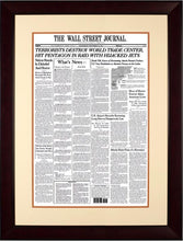 Terrorists Destroy World Trade Center | The Wall Street Journal mahogany Framed Reprint