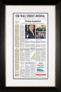 Trump Acquitted | The Wall Street Journal, Framed Reprint, Feb. 6, 2020