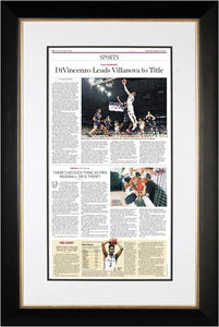 Framed Reprint of NCAA Tournament: DiVincenzo Leads Villanova to Title