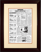 Wall Street Resolute | The Wall Street Journal Framed Reprint, September 17, 2001
