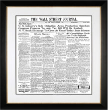 War with Japan | The Wall Street Journal black Framed Reprint