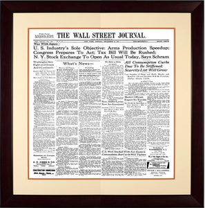 War with Japan | The Wall Street Journal mahogany Framed Reprint