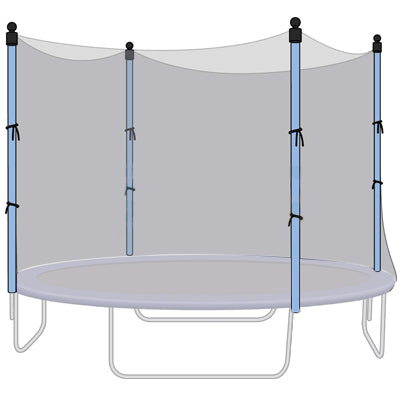 trampoline replacement nets for Jumptek, Jumpzone, bravo, airzone, variflex and upperbounce trampolines
