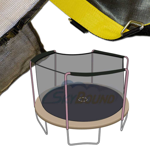 Orbounder 14 Trampoline And Enclosure Combo: 14' Bounce Pro 3 Arch Net + Mat Combo