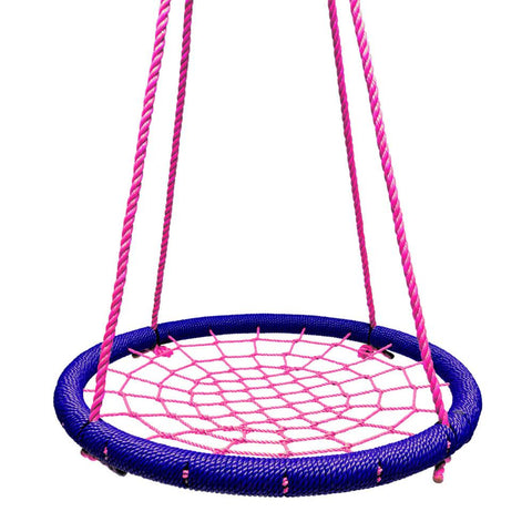 Round Tree Swing Nets - Navy & Pink
