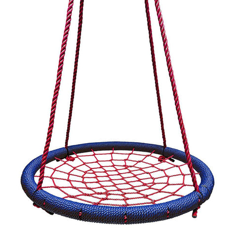 Round Tree Swing Nets - Navy & Red