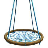Round Tree Swing Nets - Tan & Blue