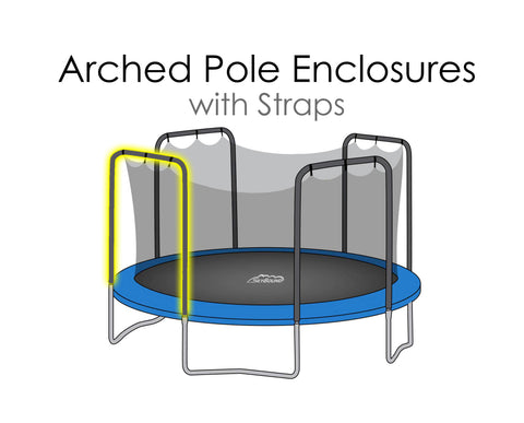 Replacement Net for 14ft Trampolines - Fits 4 Arch Poles