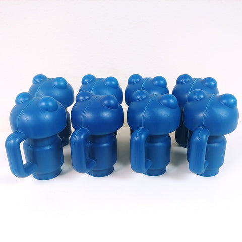 Trampoline Enclosure Handled Pole Cap - Blue - Set of 8