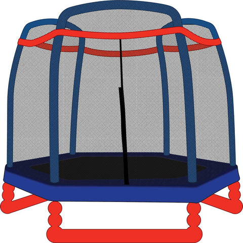 Trampoline Net for 7ft Little Tikes Trampoline - Fits 3 Arch Poles