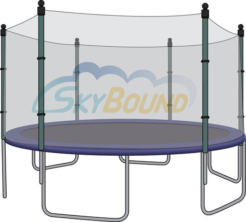 Trampoline Net for 13ft Trampolines - 6 Straight Pole