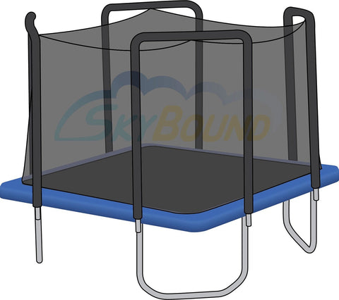 Replacement Net for 13ft x 13ft Square Trampolines - Fits 4 Arch Poles